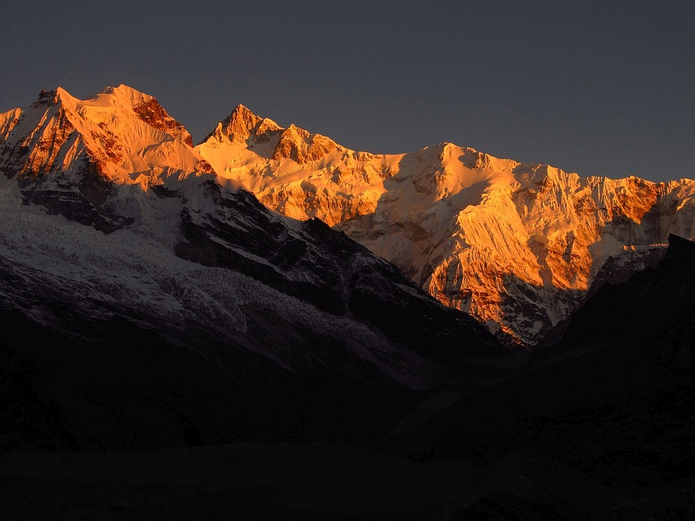 forked peak and kanchenjungha from Chemathang