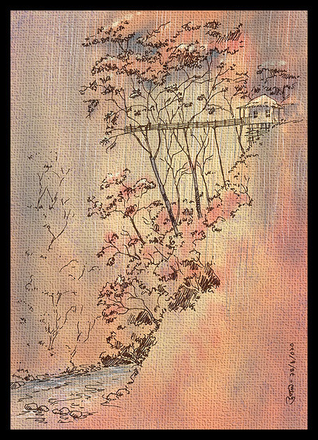 Illustration by Upal with Bengali Poetry বাংলা কবিতা