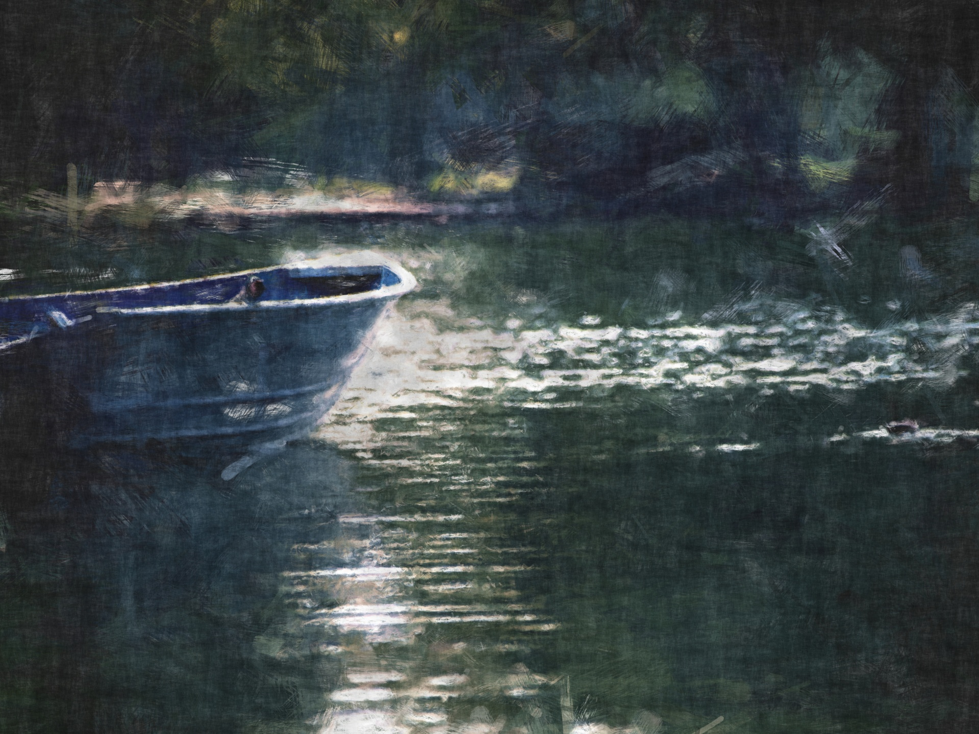 Row Boat Oil Painting from publicdomainpictues