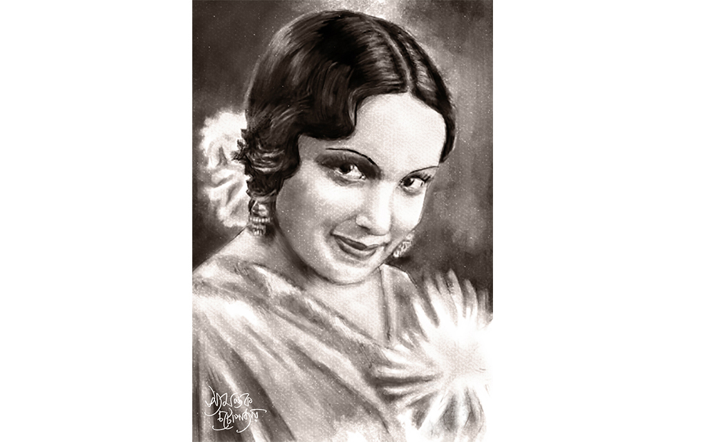 Devika Rani portrait by Syamantak