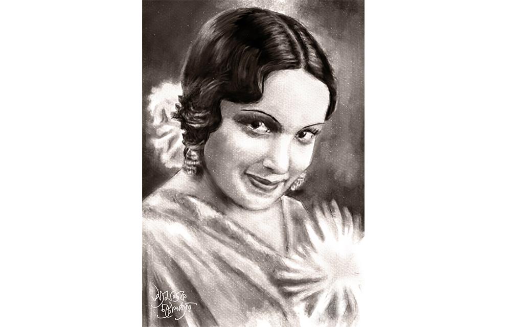 Devika Rani portrait by Syamantak