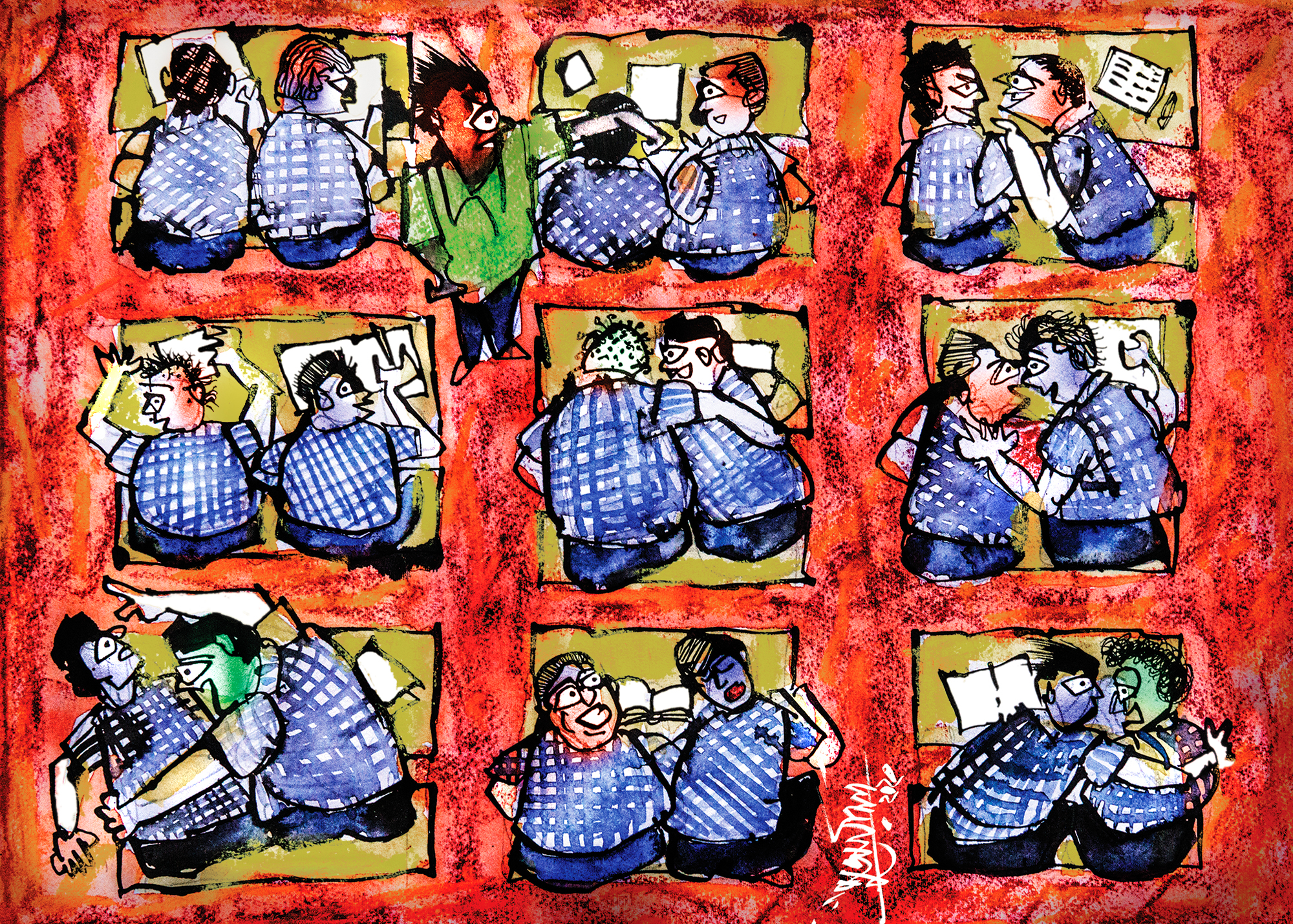 Illustration for cover story by Suvamoy Mitra