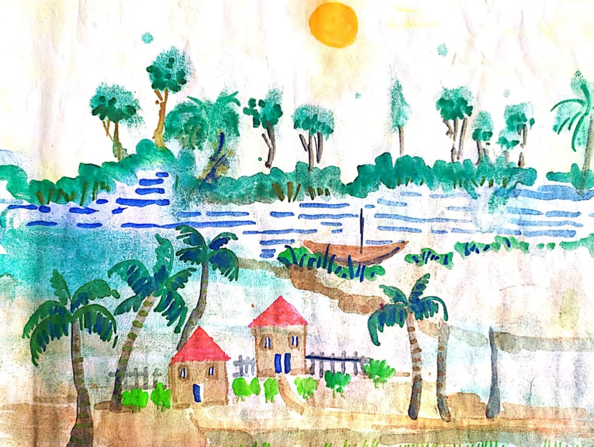 painting by Yajnaseni যাজ্ঞসেনী