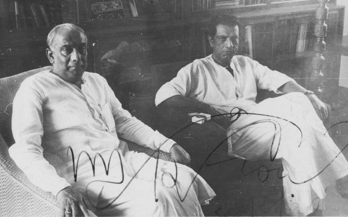 Bimal Chatterjee with Ray