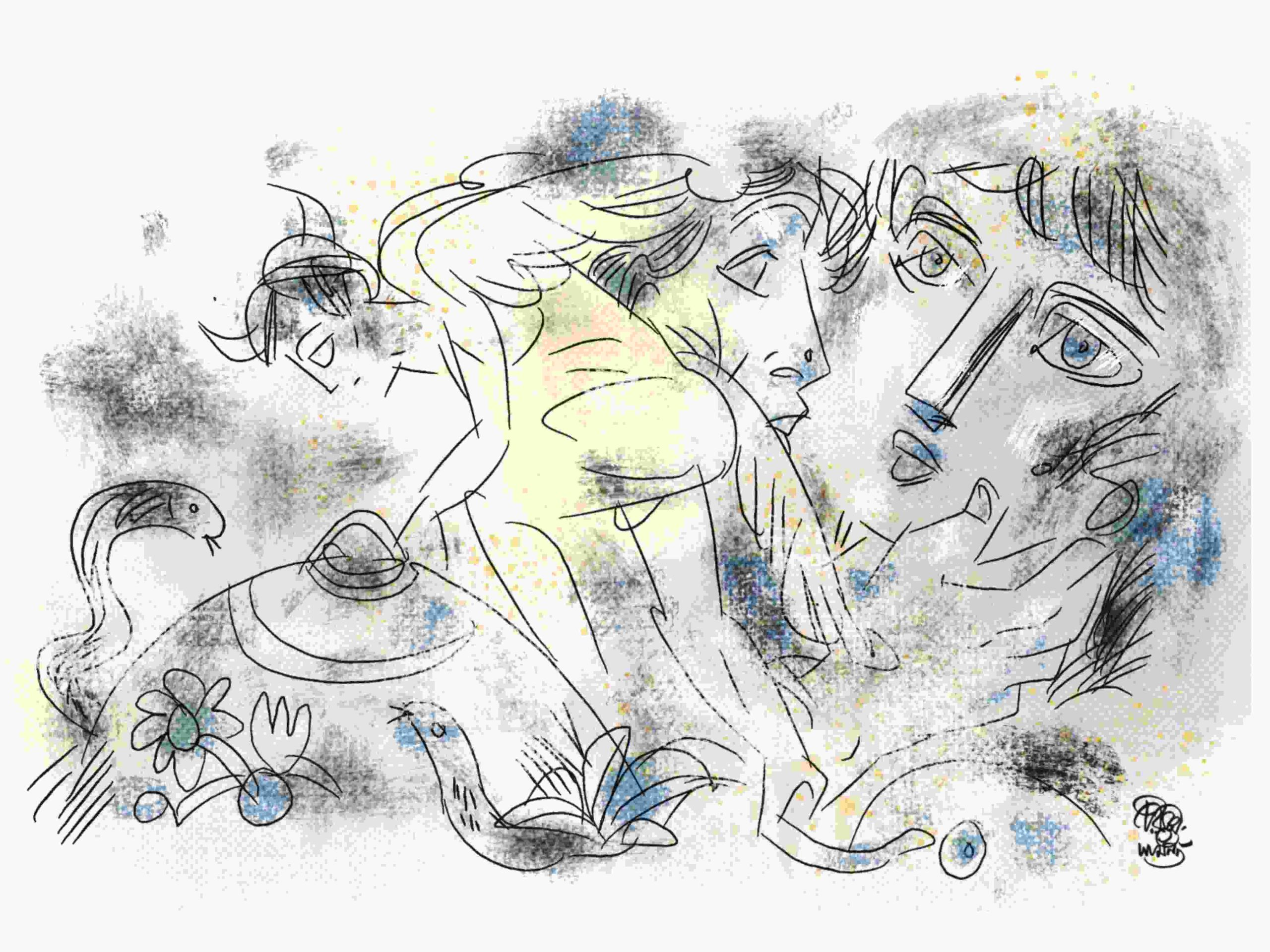 illustration by chiranjit samanta for subodh sarkar long poem