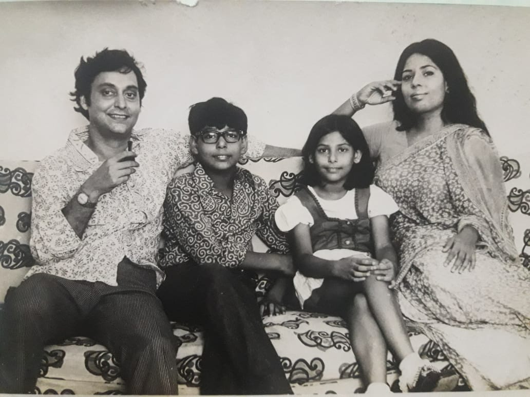 Soumitra and Deepa Chatterjee family pic